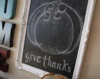 Upcycled chalkboards