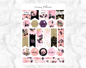 Girl Boss Flags (matte planner stickers, Filofax, Kikki K, Websters Pages, Color Crush)
