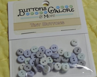 """SALE Tiny Round Buttons, 2 Hole Packaged Buttons, """"Ice""""  Style #1352 by Buttons Galore. Sewing, Crafting Buttons, Embellishments"""