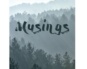 Musings poetry ebook