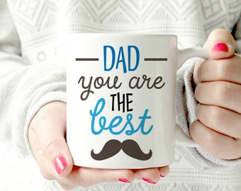 World's best dad mug. Mustache dad mug Best Dad in the world mug. father's day mug. gift for Father.  Husband Wife Custom 11 oz