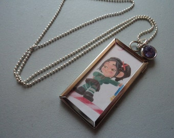 Vanellope 2 sided Disney necklace