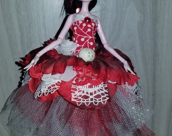 Draculaura Monster High doll in custom dress