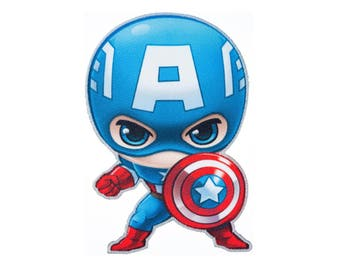 Captain America Iron On Applique, Genuine Marvel Iron On Patch, Captain America Patch, Superhero Applique, Embroidered Patch