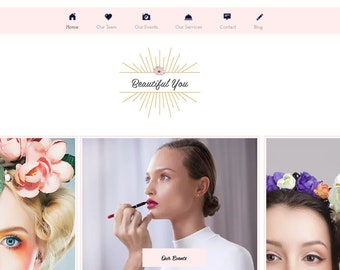 Feminine Premade Event, Makeup, Beauty  Website – Completely Customizable by Anyone