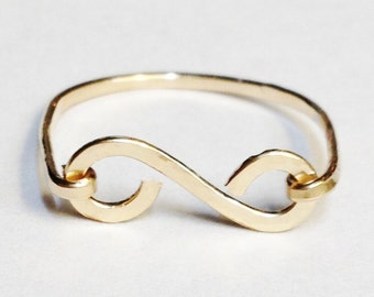 Gold Ring  Scroll Ring  Solid Gold Ring 14K Solid Gold Jewelry