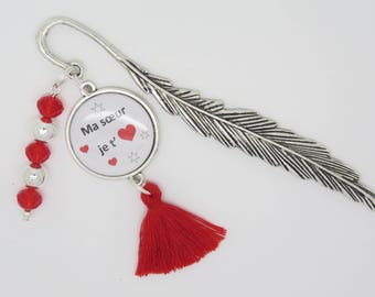 CUSTOMIZABLE gift bookmark for a reader, a reader: sister you love