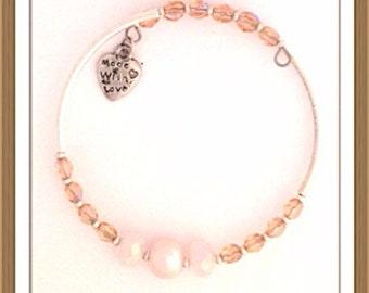 Bracelet Handmade MWL beautiful pink bracelet 0176