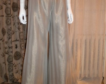 Silver lame evening pants