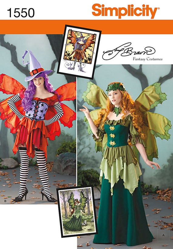 Simplicity Sewing Pattern 1550 Misses\' Amy Brown Fairy Costume from ...
