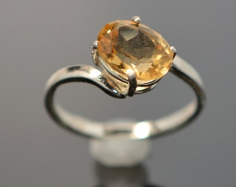 Citrine Bypass Ring