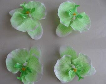 set of 4 appliques flowers Orchid 9 cm