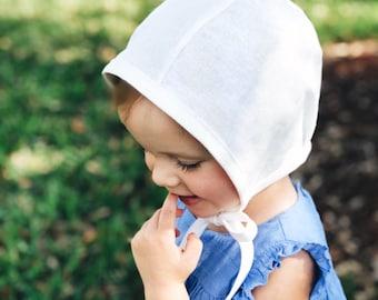 cloud linen bonnet.