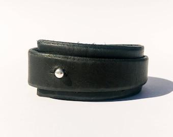 Black Leather Bracelet, Leather Bracelet, Men Bracelet, Leather Cuff, wrap leather bracelet, leather wristband, Boho Leather Jewelry, Gift