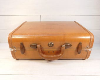 Vintage Tan Samsonite Suitcase, Samsonite Luggage, Schwayder Bros. Small Suitcase Decor