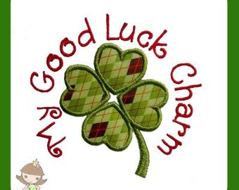 Good Luck charm Applique Embroidery design