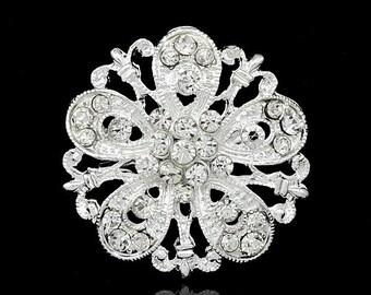 10 pcs Bridal Invitations Crystal Rhinestone,Wedding Brooch Bouquet Cake Decoration Hair Comb Shoe Clip Jewelry DIY Supply Ab014