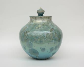 Aqua Crystalline Cremation Urn