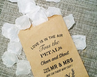 Petal Toss Bags - Bags Only, No Filling