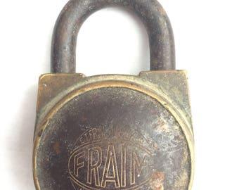 Fraim Padlock with key