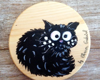 Rascal cat coasters hand painted