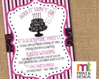 Surprise 40 50 60 Birthday Invitations PRINTED with envelopes