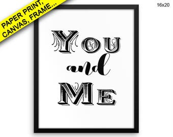 You And Me Canvas Art You And Me Printed You And Me Love Art You And Me Love Print You And Me Framed Art You And Me together love Prints