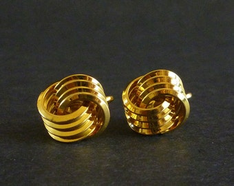 Vintage Trifari Classic Knot Style Clip On Earrings