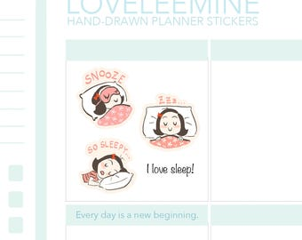 CoCo Sleeping, Napping, Snooze, ZzZ Planner Stickers