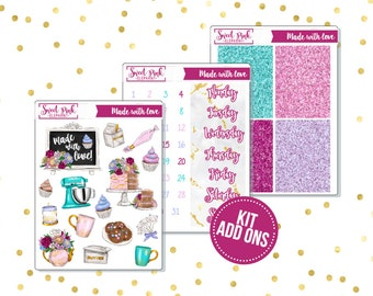 Made With Love // Kit ADD ONS-Stickers for the EC Happy Planner Life planner