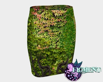 Ivy BodyCon Skirt - Pencil Skirt, Poison Ivy Skirt, Poison Ivy Cosplay, Poison Ivy Costume, Work Skirt, Trendy Workwear, Poison Ivy Gift