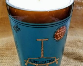 Supplication Repurposed Beer Bottle Candle {10oz}