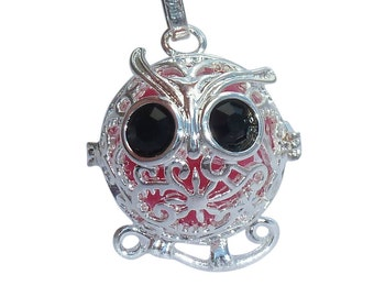 YOur perSOnal STYlish Essential oil necklace diffuser Steampunk Baby silver owl d1 0