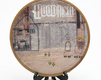 Hood Rich, Hand Embroidered Framed Wall Art