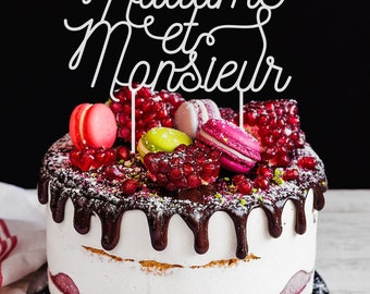 Mrs and Mr cake topper in plexiglas® - wedding cake