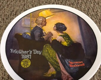 After the Party, Norman Rockwell Collectible Plate, Mother's Day 1981
