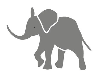 Baby Elephant Stencil for Painting Kids or Baby Room Mural (SKU155-istencil)