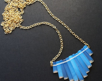 Opalite Bib Crystal Statement Necklace