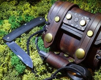 Outdoors Gear Leather Handmade Altoids Tin Wrap Belt Pouch, Bushcraft, Fishing, Fire Tin, First Aid Tobacco ,Groomsmen,EDC,Mens Womens Gift