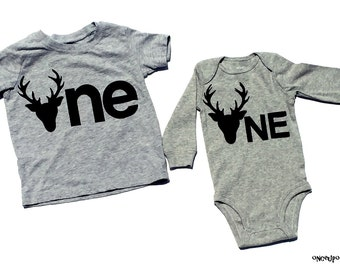 Deer//One//First Birthday//Fabric Iron On Appliques//Two Sizes Available