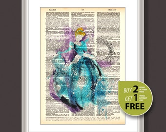 Dictionary Art Print, Disney cinderella vintage print, Disney Princess cinderella distionary print, Disney wall art, Nursery art, 3667