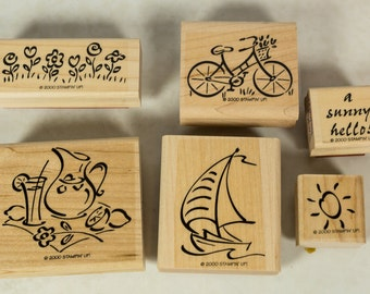 Retired Stampin' Up set, Simply Summer, stamps, rubber stamps, stamp set, retired stamps, Stampin Up sets, Stampin' Up! sets