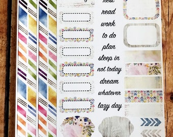 FOLLOW YOUR DREAMS Personal Weekly Sticker Kit, Planner Stickers, Sticker Kit Sized for Erin Condren Life Planner