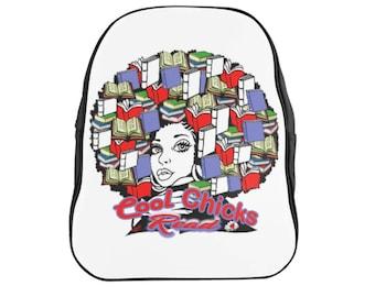 Cool Chicks Read School Backpack