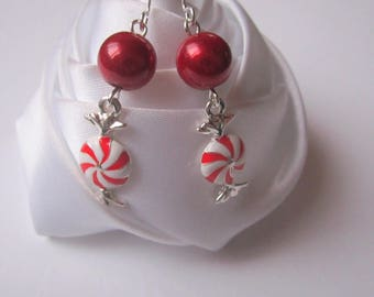 Earrings red candy
