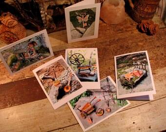 Faery Card Blank Greeting Card One Custom Image