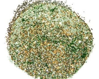 Sea Green Glitter, SOLVENT RESISTANT, GLITTER, 0.040 Hex, Nail Art, Nail Polish Glitter, Craft Glitter, Green Glitter, Nail Art, Slime