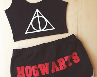 HOGWARTS Shorts - by So Effing Cute- Inspired by Harry Potter - Made in USA