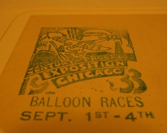 pair of 1933 Balloon races chicago expo covers