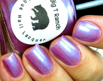 "Purple Linear Holographic Nail Polish - Free U.S. Shipping - ""Lotus"" - Gift for Mom, Sister, Daughter - 0.5 oz Full Sized Bottle"